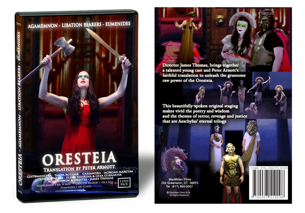 Oresteia Trilogy DVD Complete Staging of Peter Arnott Translation from the Greek